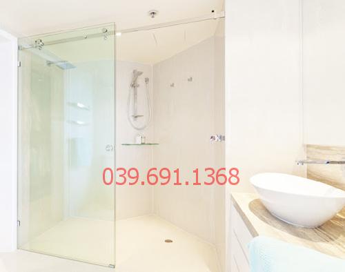 Mẫu vách kính cường lực phòng tắm