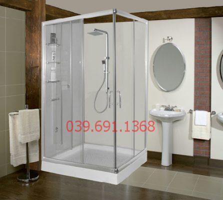 vách kính nhà tắm cửa lùa 1